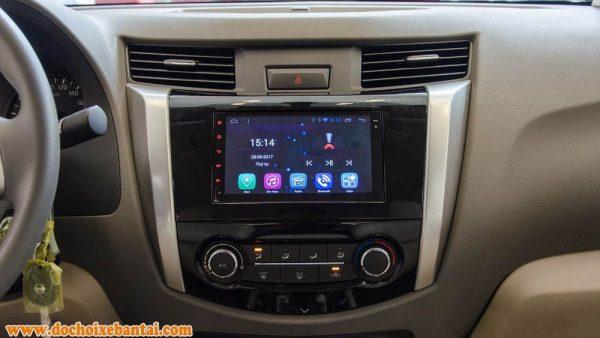 Ảnh chụp màn hình trung tâm của Nissan Navara 2017