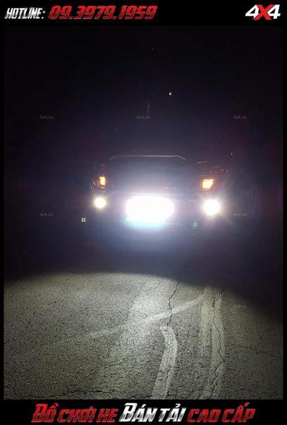 Tấm ảnh led bar <strong>độ đèn Ford Ranger</strong>: Đèn led light bar, đèn tròn, đèn vuông lắp đẹp cho xe Ford Ranger