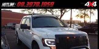 Tấm ảnh đèn led bar xe bán tải: Đây là một trong những mẫu đèn led gắn đẹp nhất cho xe bán tải Ford Ranger