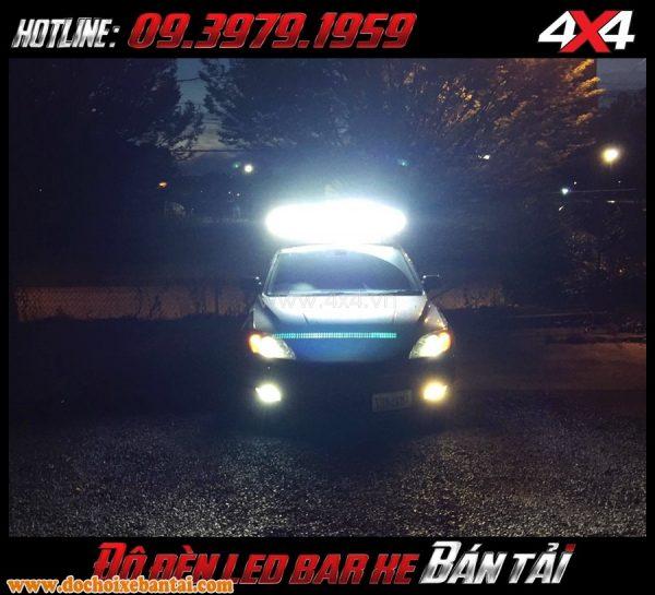 Bức ảnh đèn xe bán tải độ: Đèn led bar siêu sáng với chất lượng cực kì tốt và độ bền cao
