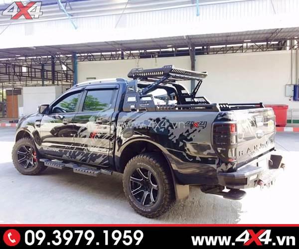 Thanh thể thao và baga mui thùng sau chất và đẳng cấp độ xe bán tải Ford Ranger