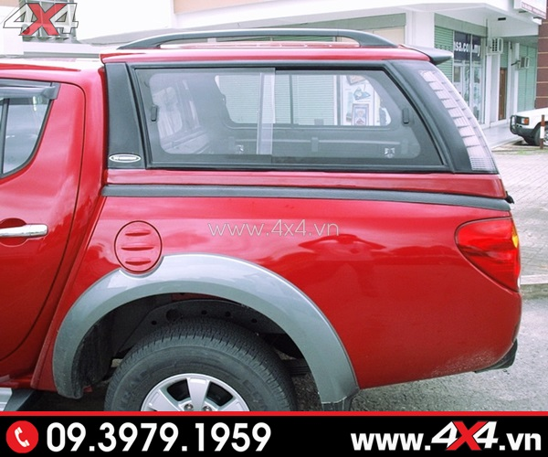 Nắp thùng cao xe bán tải sang trọng cho xe màu đỏ