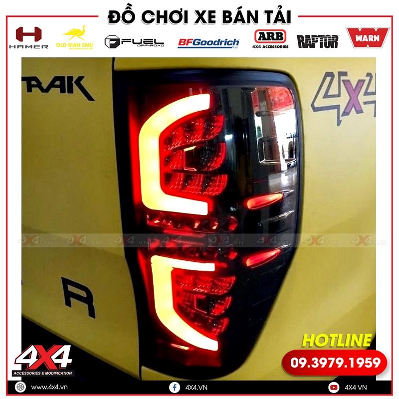 Đèn hậu chữ C độ đẹp và chất cho xe bán tải Ford Ranger