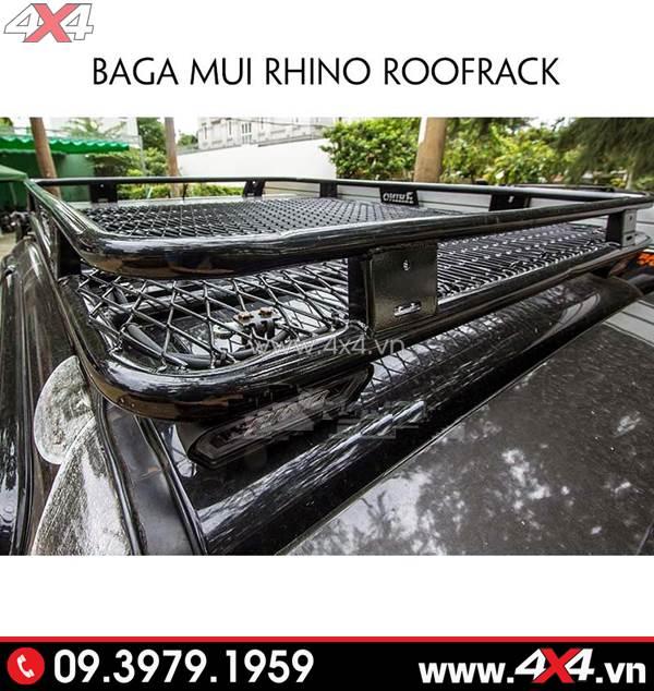 Baga mui Rhino Roofrack độ đẹp và ngầu cho xe Ford Ranger