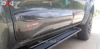 Bậc bước lên xuống ngầu và đẹp độ xe Ford Ranger đen