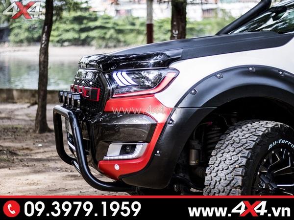 Cản trước Ford Ranger - Xe bán tải Ford Ranger độ cứng cáp với cản chữ U