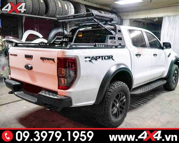 Ford Ranger Raotor 2019 màu trắng độ thanh thể thao 4wd đẹp và ngầu