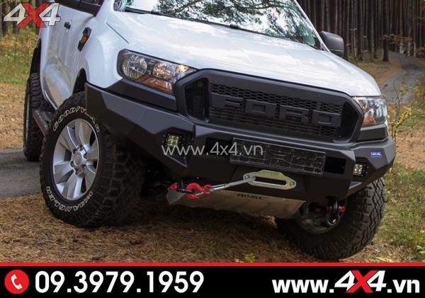 Cản trước Ford Ranger - Chiếc bán tải độ cản trước Rival đẹp và chất