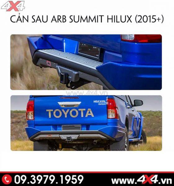 Cản sau cứng cáp và độ đẹp cho xe Toyota Hilux
