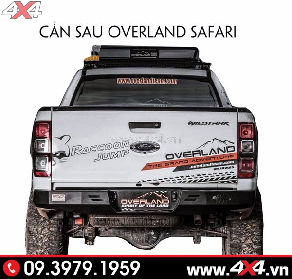 Cản sau Overland Safari độ đẹp và chất cho xe Ford Ranger