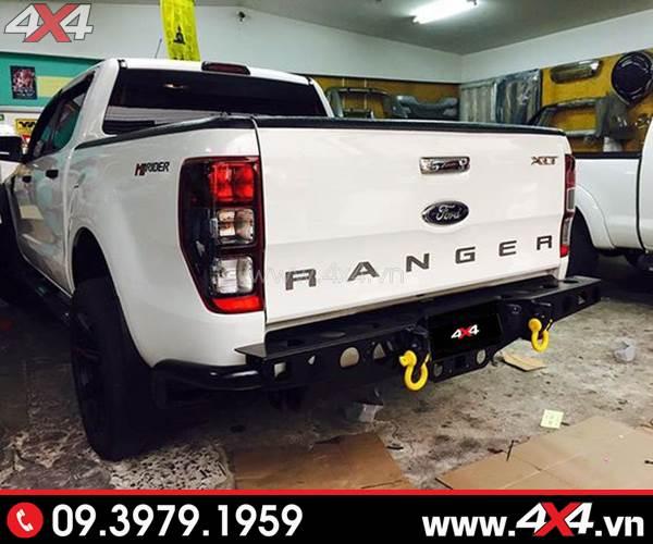Cản sau YAK với các móc kéo tiện lợi độ đẹp và chất cho xe Ford Ranger