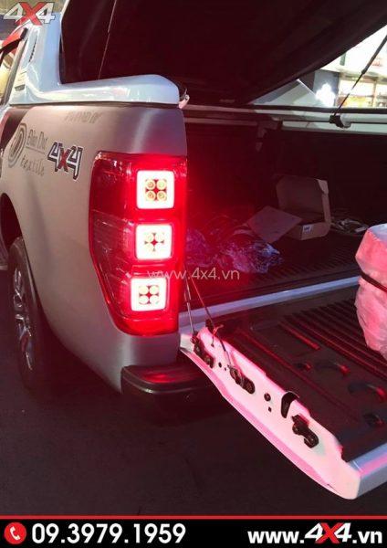 Xe Ford Ranger độ đẹp với đèn đuôi bắt mắt