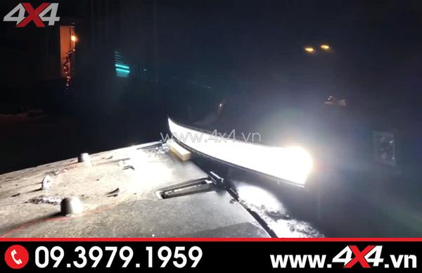 Đèn led bar 8D trợ sáng tốt cho xe bán tải