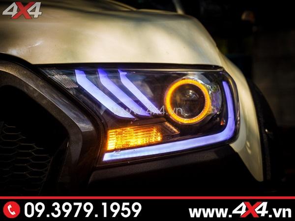 Mẫu đèn trước độ theo kiểu Ford Mustang cực đẹp cho xe bán tải Ford Ranger