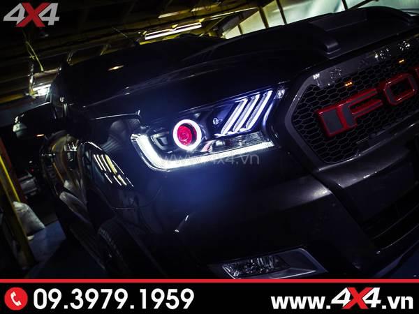 Cụm đèn trước độ đẹp độc và đẳng cấp dành cho xe Ford Ranger