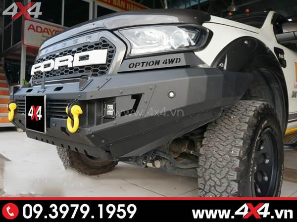 Cản trước option 4wd cứng cáp và ngầu độ xe Ford Ranger