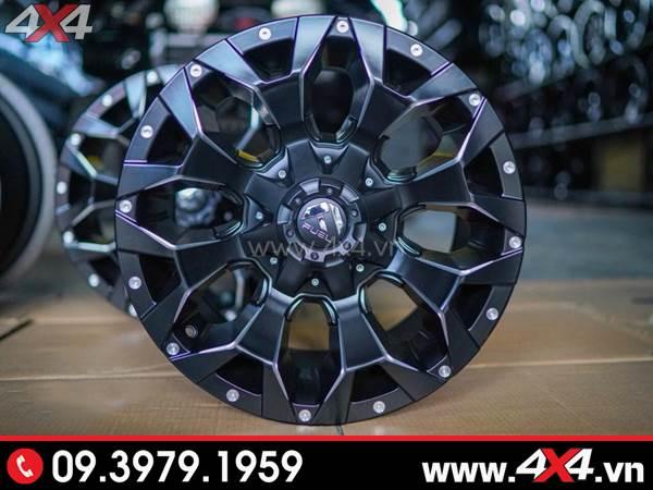Mâm xe Ford Ranger - Mâm Fuel Assault với thiết kế đẹp và bắt mắt dành độ cho xe bán tải Ford Ranger