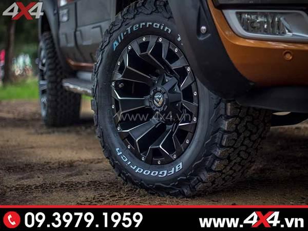 Mâm xe Ford Ranger - Mâm Fuel Assault độ đẹp và ngầu cho xe Ford Ranger