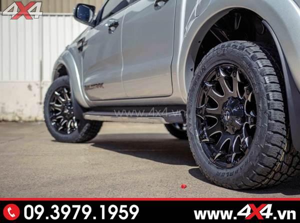 Mâm xe Ford Ranger - Chiếc bán tải Ford Ranger gắn mâm Fuel Battle Axe độc đáo và đẹp