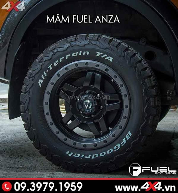 Mâm xe Ford Ranger - Mâm Fuel Anza độ cứng cáp cùng với lốp BF Goodrich