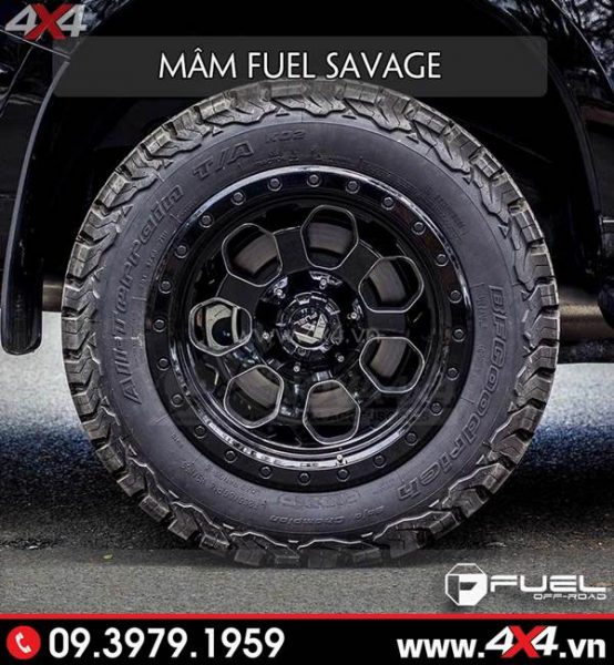 Mâm xe Ford Ranger - Mâm Fuel Savage độc và đẹp dành độ xe bán tải