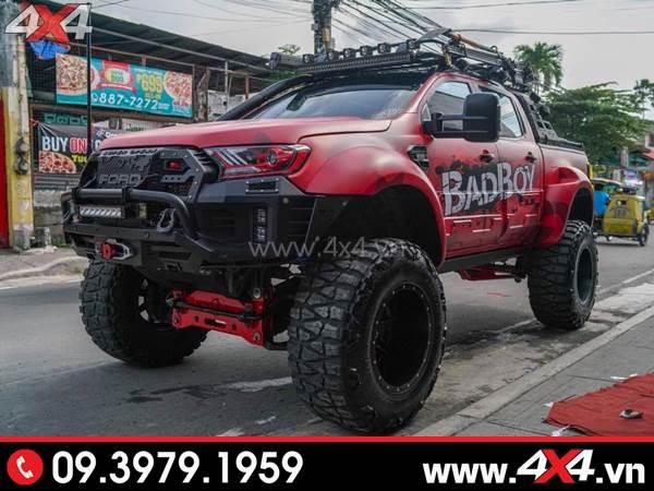 Cản trước Ford Ranger - Chiếc Ford Ranger nâng gầm và độ hầm hố với cản Open N Thái Lan