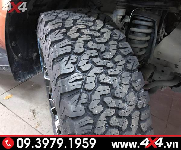 Lốp xe bán tải: lốp BF goodrich đẹp chất và đẳng cấp độ xe Ford Ranger