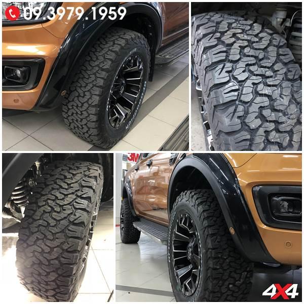 Lốp xe bán tải Ford Ranger AT BF goodrich đẳng cấp và chất lượng độ thêm cứng cáp cho Ford Ranger