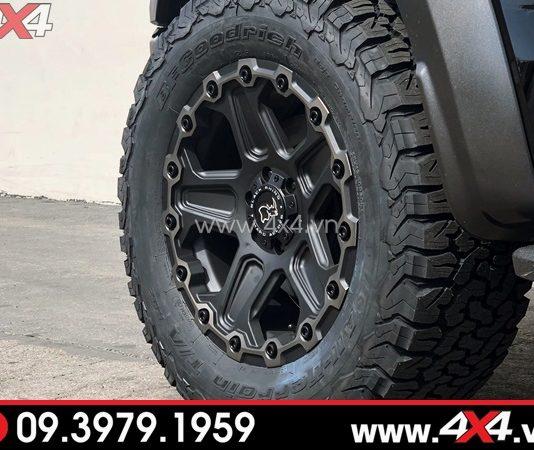 Mâm Black rhino Mint Matte cứng cáp độ ngầu cho xe bán tải