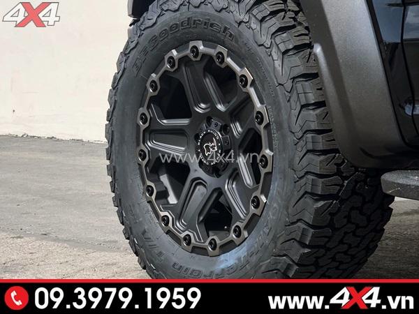 Mâm xe Ford Ranger - Mâm Black rhino Mint Matte cứng cáp độ ngầu cho xe bán tải
