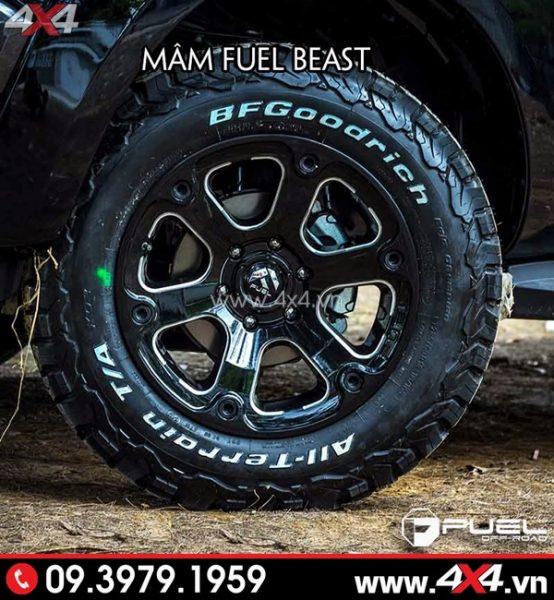 Mâm xe Ford Ranger - Mâm Fuel Beast độ đẹp và chất
