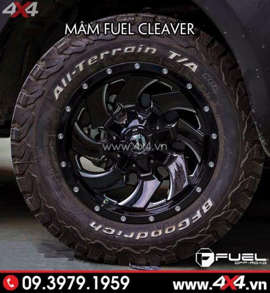 Mâm xe Ford Ranger - Mâm Fuel Cleaver chất và mạnh mẽ độ cho xe ô tô, xe bán tải