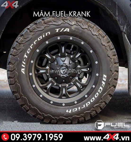 Mâm xe Ford Ranger - Mâm Fuel Krank độ cứng cáp và mạnh mẽ cho xe bán tải ở HCM