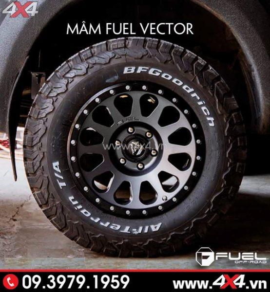 Mâm xe Ford Ranger - Mâm Fuel Vector độc đáo và cứng cáp độ xe bán tải