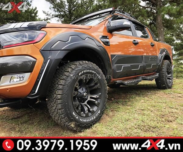 Mâm xe Ford Ranger độ: Mâm Fuel Vapor độ đẹp và ngầu cho xe bán tải