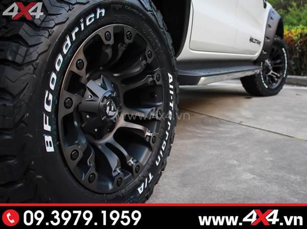 Mâm Fuel Vapor độ đẹp và ngầu cho xe Ford Ranger màu trắng