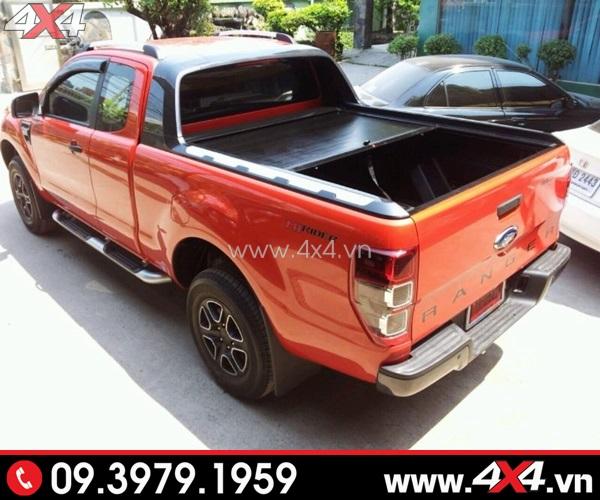 Nắp thùng thấp Ford Ranger: Nắp thùng cuộn KSC gắn xe Ford Ranger