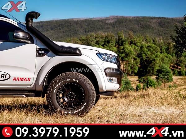 Ống thở Safari độ đẹp cho xe bán tải Ford Ranger