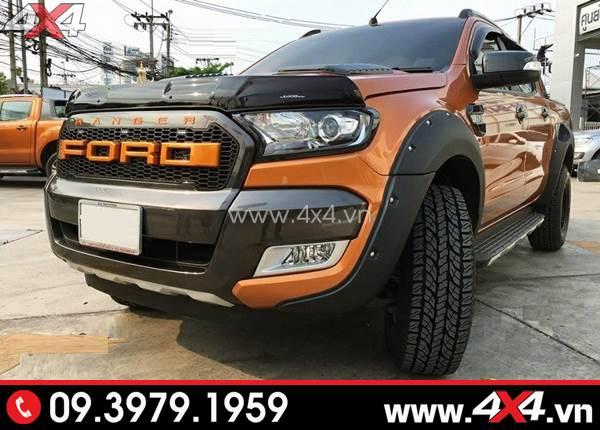 Chiếc bán tải Ford Ranger cực ngầu với ốp cua lốp kiểu
