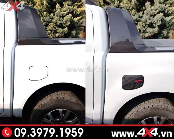 Ốp nắp bình xăng độ đẹp cho xe Ford Ranger