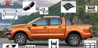Bộ ốp trang trí giúp xe bán tải Ford Ranger đẹp hơn