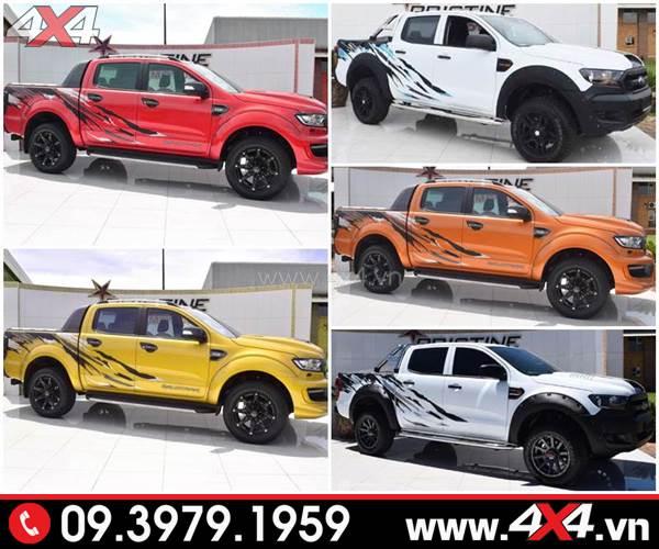 Tem dán xe Ford Ranger: Những mẫu tem dán đơn giản mà đẹp dành cho xe bán tải