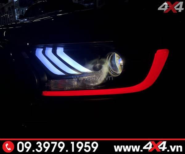 Đèn trước Ford Ranger Raptor được độ theo kiểu Ford Mustang