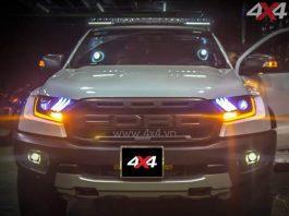 Ford Ranger Raptor 2018 2019 mới độ đèn trước kiểu Ford Mustang cực đẹp