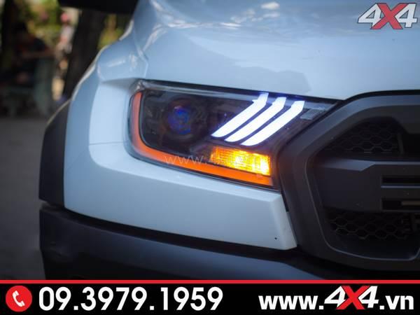 Đèn trước được độ theo kiểu Ford Mustang dành cho xe Ford Ranger Raptor 2018 2019