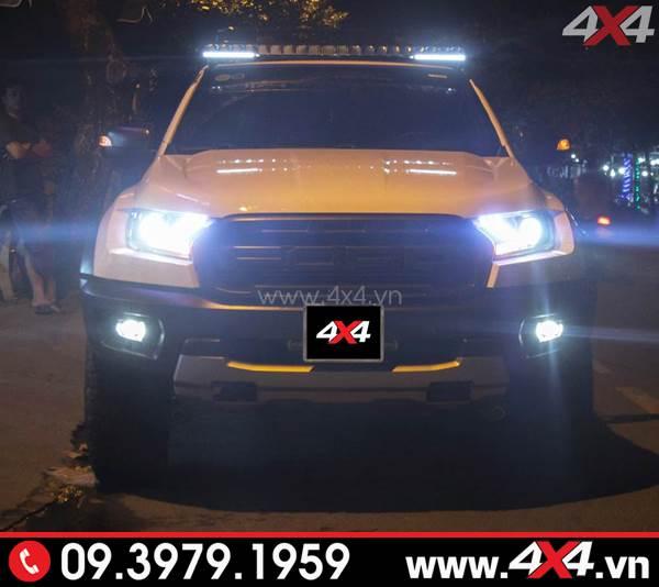 Xe Ford Ranger Raptor độ đèn tăng sáng philips cực chất