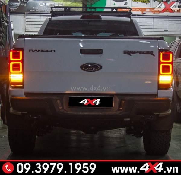 Cụm đèn hậu sau Ford Ranger Raptor được độ kiểu Range Rover đẹp và chất
