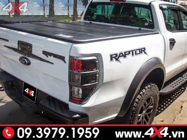 Nắp thùng Top flip top up lắp khít, đẹp và cứng cáp cho xe Ford Ranger Raptor