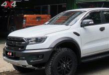 Ốp viền đèn trước carbon độ đẹp và đẳng cấp cho xe Ford Ranger Raptor 2018 2019