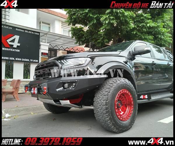 Xe Ford Ranger Raptor sau khi gắn siêu phẩm mâm Fuel Zephyr